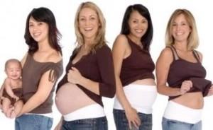 беременные в бандажах