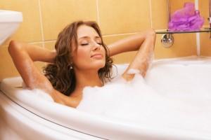 беременным лежать в ванной