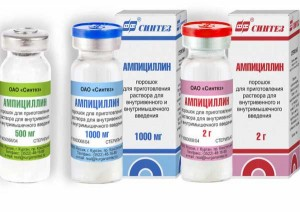 инъекции ампициллина